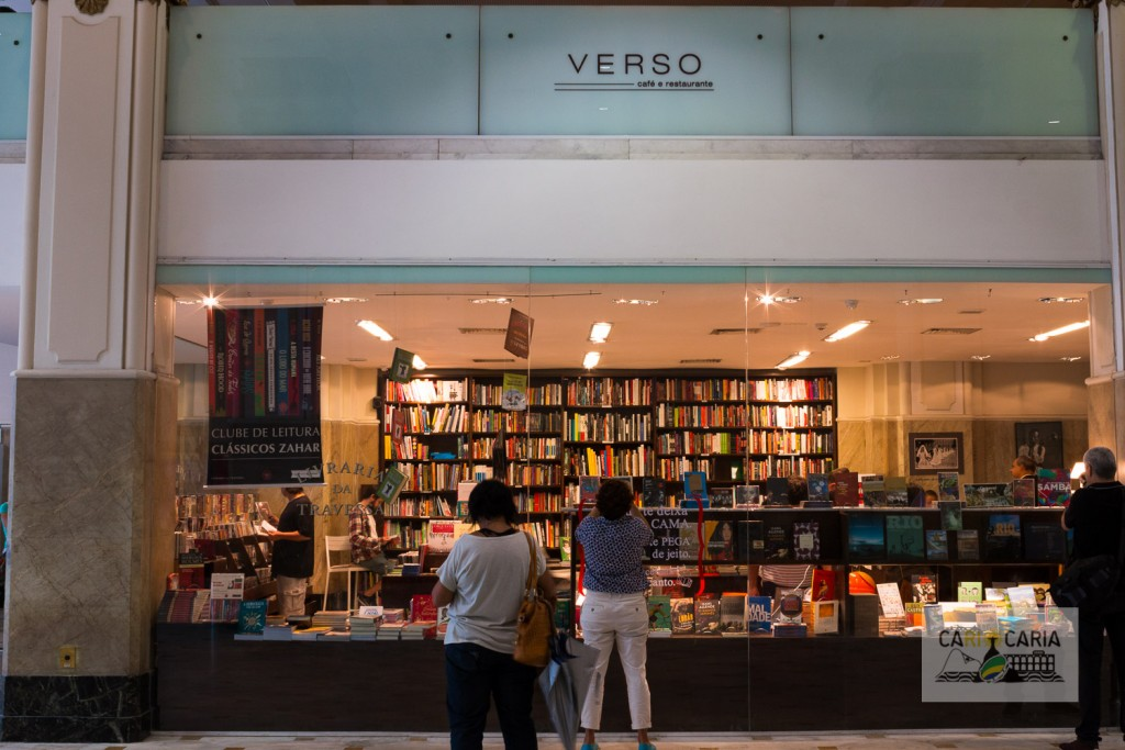 Livraria da Travessa embaixo e Restaurante Verso acima