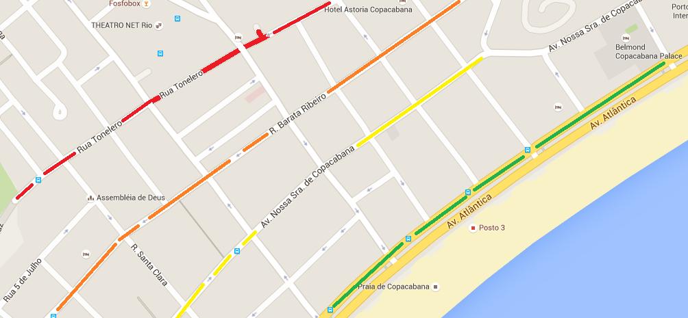 Faixa de preço de hotel em Copacabana