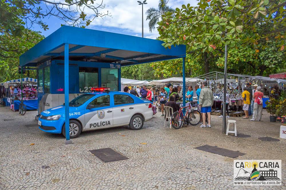 Policiamento reforçado na Feira Hippie Ipanema
