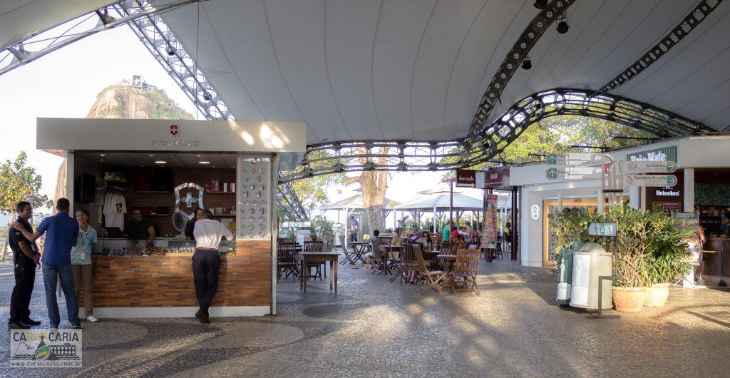 Praça de Alimentação no alto do Morro da Urca